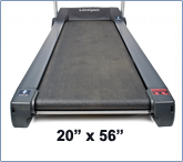 Spacious Running Surface with Shock Absorbers