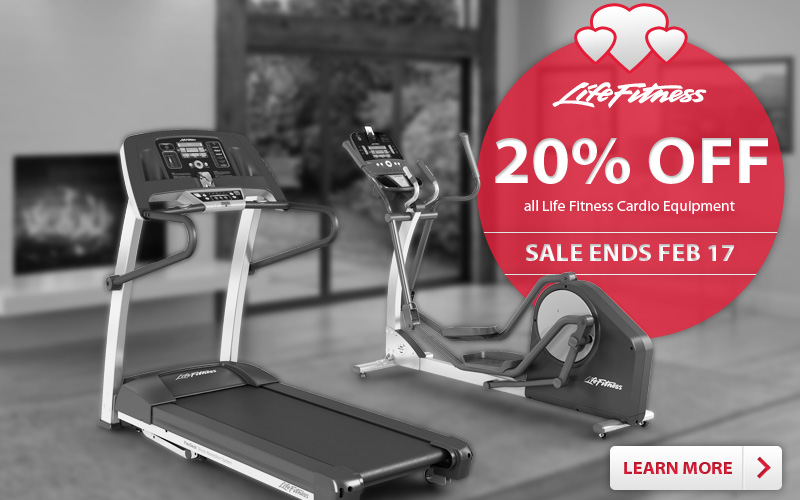 Save 20% on all Life Fitness Cardio Equipment
