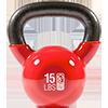 GoFit 15 lbs Kettlebell