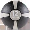 GoFit 12 lbs Rubber Medicine Ball