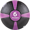 GoFit 6 lbs Rubber Medicine Ball