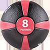 GoFit 8 lbs Rubber Medicine Ball