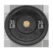 Body-Solid 35 lb. Bumper Plate (Black)