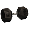 100 lb Rubber Coated Hex Dumbbell