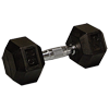 25 lb Rubber Coated Hex Dumbbell