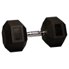 70 lb Rubber Coated Hex Dumbbell