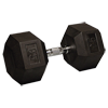 95 lb Rubber Coated Hex Dumbbell