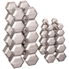 Hex Dumbell Set (2 each): 5, 10, 15, 20, 25, 30, 35, 40, 45, and 50 lb.