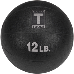 Body-Solid Medicine Ball - 12 lbs (Black)