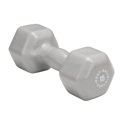 Body-Solid 15 lb. Vinyl Dumbbells