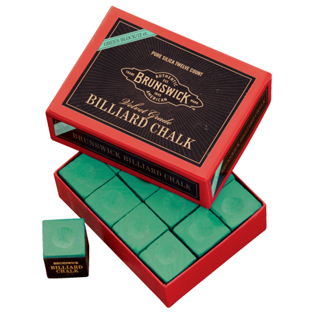 Brunswick Billiard Chalk - 12 piece, Green