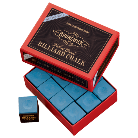 Brunswick Billiard Chalk - 144 piece, Blue