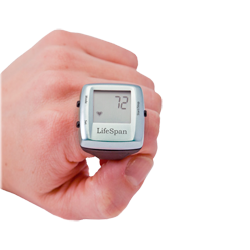 LifeSpan Multi-Function Digital Heart Rate Ring (Silver)