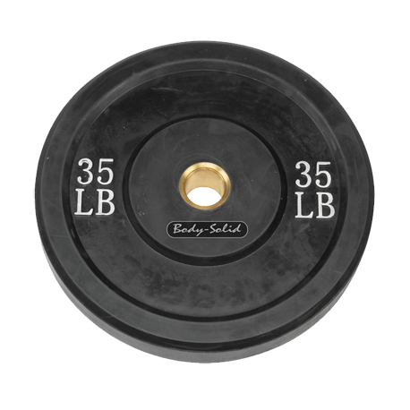 Body-Solid 35 lb. Bumper Plate (Black)