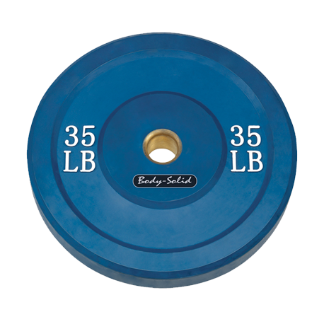 Body-Solid 35 lb. Bumper Plate (Blue)