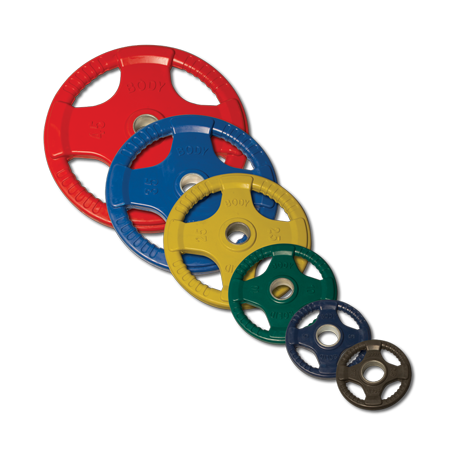 Body-Solid 255 lb. Colored Rubber Grip Olympic Plate Set