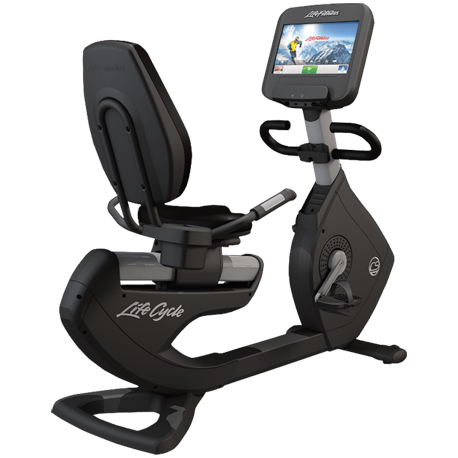 Life Fitness Platinum Club Series Recumbent Cycle with 16 inch Discover SE Tablet Console