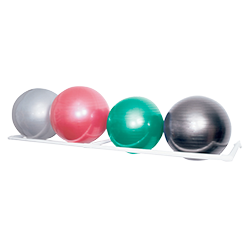 SPRI 4-Ball PVC Wall Rack
