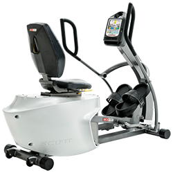 SCIFIT REX Total Body Recumbent Elliptical with Footstraps and AC Adapter
