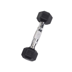 3 lb Rubber Coated Hex Dumbbell