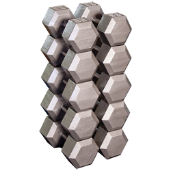 Hex Dumbell Set (2 each): 55, 60, 65, 70, and 75 lb.