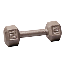 Body-Solid Cast Hex Dumbbell - 10 Lb.