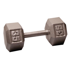 Body-Solid Cast Hex Dumbbell - 35 Lb.