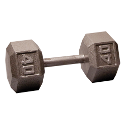 Body-Solid Cast Hex Dumbbell - 40 Lb.