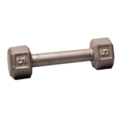 Body-Solid Cast Hex Dumbbell - 5 Lb.