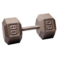 Body-Solid Cast Hex Dumbbell - 80 Lb.