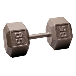 Body-Solid Cast Hex Dumbbell - 85 Lb.