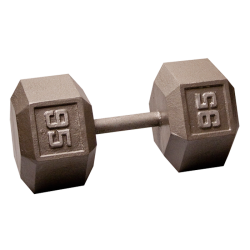 Body-Solid Cast Hex Dumbbell - 95 Lb.