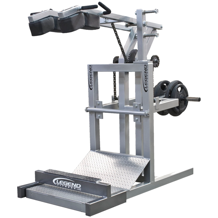 Legend Squat Machine with Calf Blaster