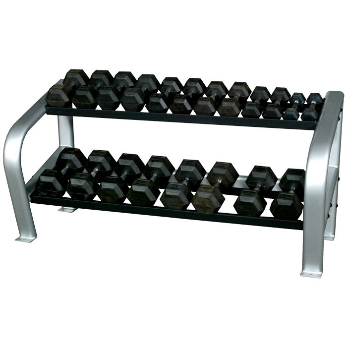 Inflight Fitness 2-Tier Hex Dumbbell Rack