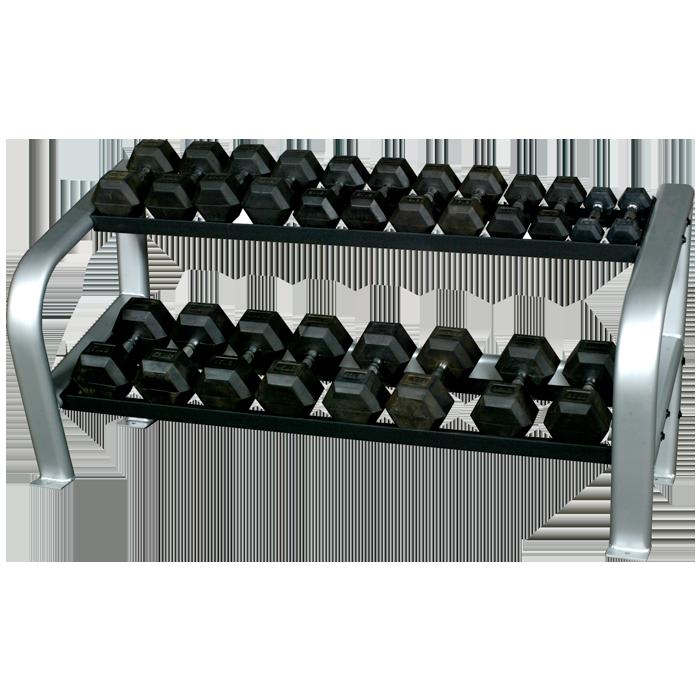 Inflight Fitness 2-Tier Hex Dumbbell Rack