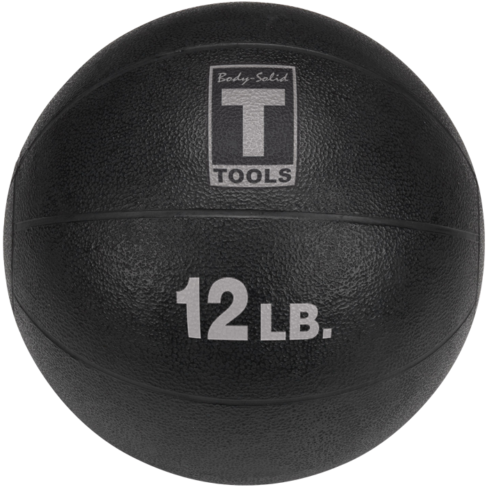 Body-Solid Medicine Ball - 12 lbs (Black)