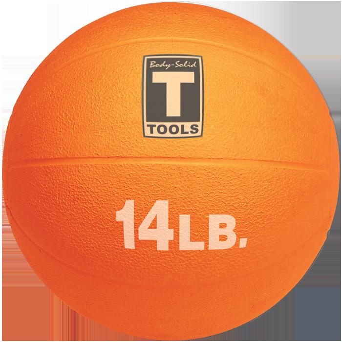 Body-Solid Medicine Ball - 14 lbs (Orange)