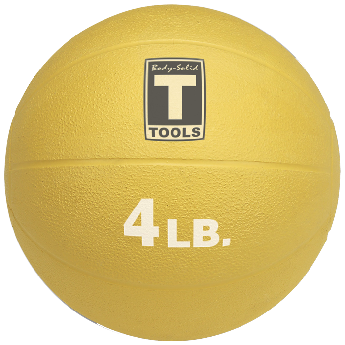 Body-Solid Medicine Ball - 4 lbs (Yellow)