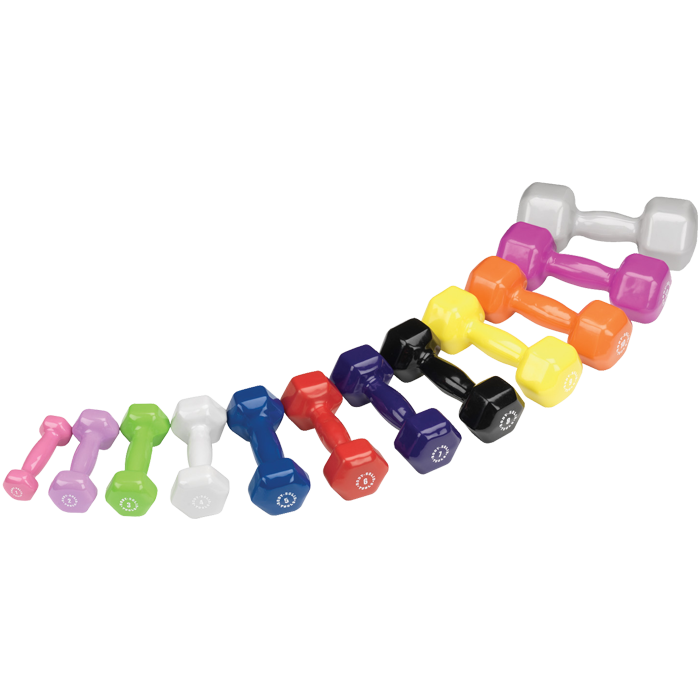 Body-Solid Vinyl Dumbbell Set, 1-15 lbs. pairs