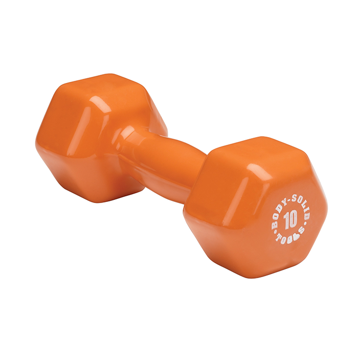 Body-Solid 10 lb. Vinyl Dumbbells