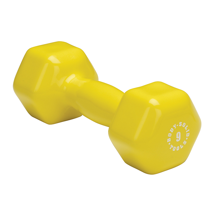 Body-Solid 9 lb. Vinyl Dumbbells