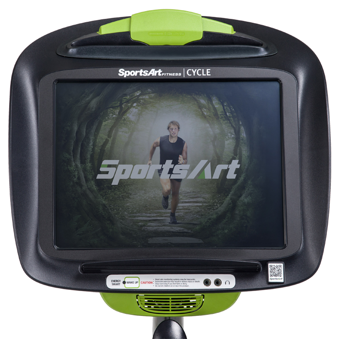 SportsArt C545R-15 Upright Bike with 15 inch Touchscreen LCD Console