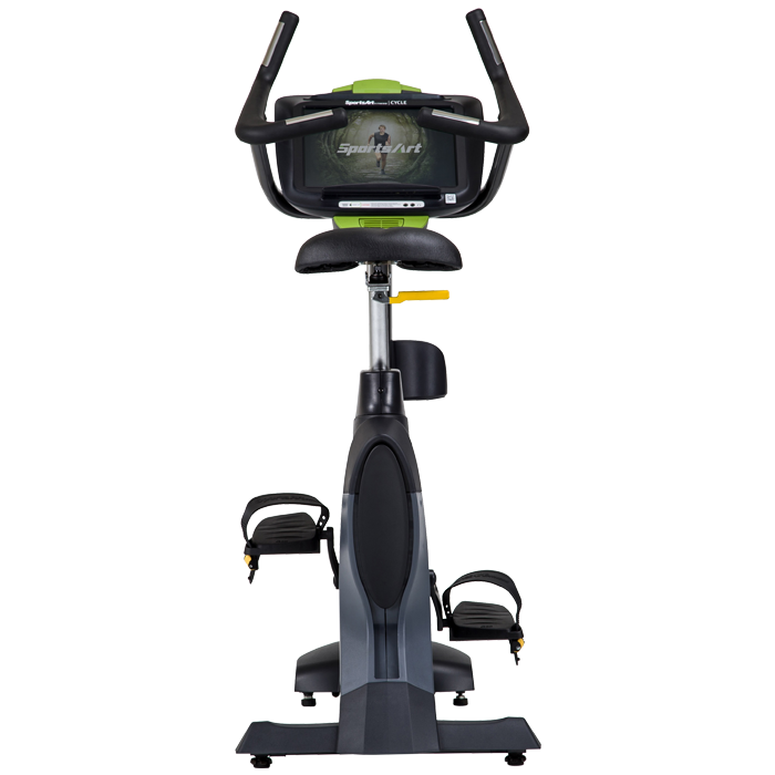 SportsArt C545U-15 Upright Bike with 15 inch Touchscreen LCD Console