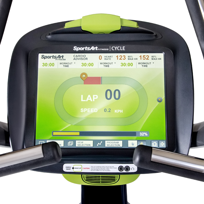 SportsArt C575U-15 Upright Bike with 15 inch Touchscreen LCD Console