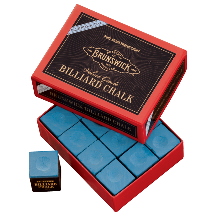 Brunswick Billiard Chalk - 12 piece, Blue