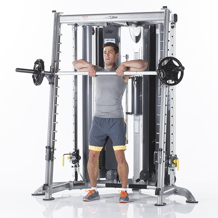 TuffStuff Evolution Corner Multi-Functional Trainer with Smith Press Attachment