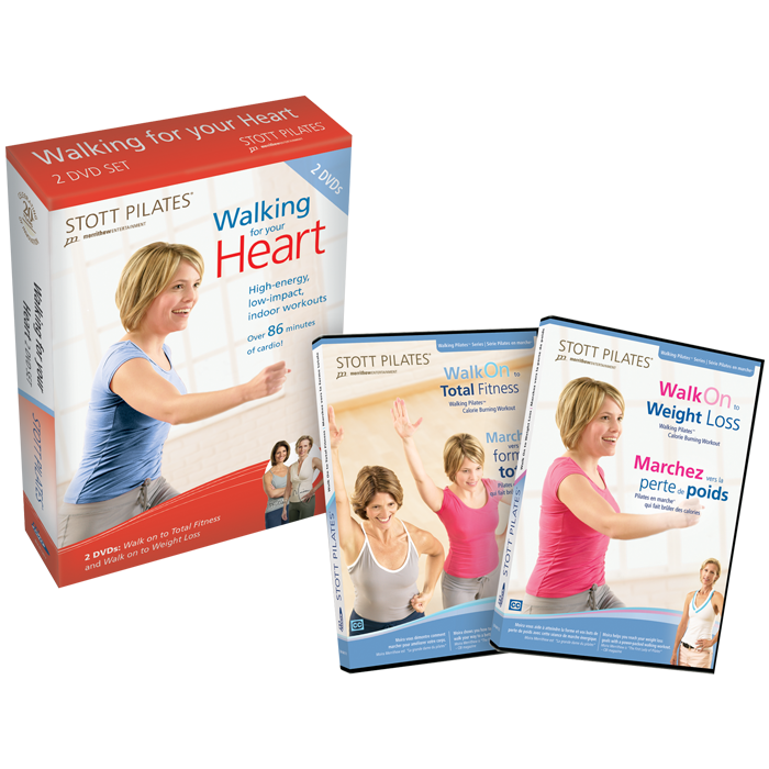 Stott Pilates Walking For Your Heart DVD Two-Pack