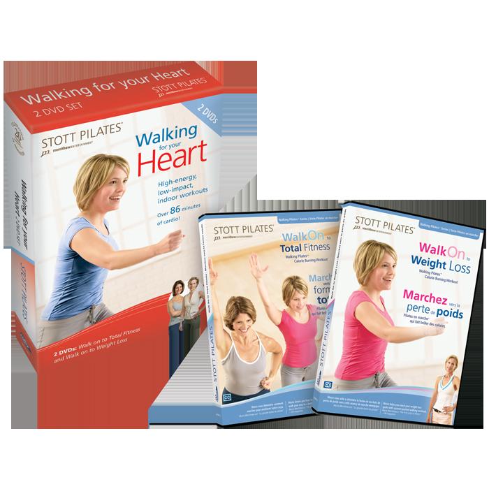 Stott Pilates Walking For Your Heart DVD Two-Pack