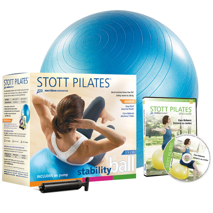 Stott Pilates Stability Ball Power Pack 55cm (blue)