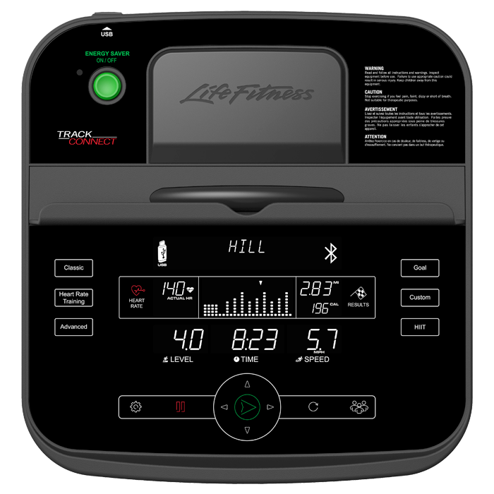 Life Fitness E3 Elliptical Cross-Trainer with Track Connect